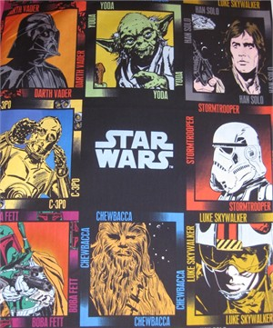Star Wars Fabric, Cameo Panel 1 yard panel)