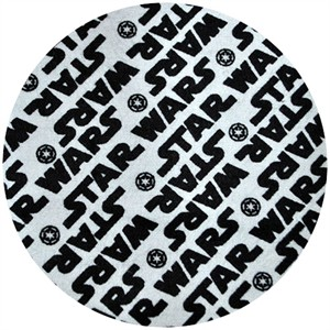 Star Wars Fabric, FLANNEL, Star Wars Bias Logo