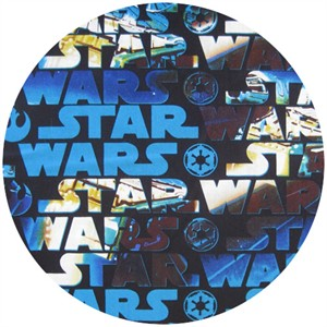 Star Wars Fabric, Grand Title Blue
