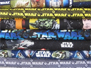 Star Wars Fabric in FAT QUARTERS 7 Total