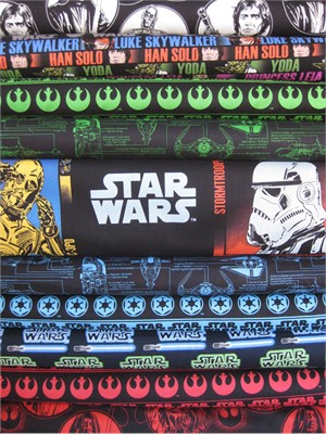 Star Wars Fabric, Star Wars II in FAT QUARTERS, 9 Total