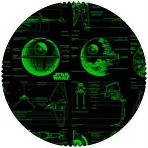 Star Wars Fabric, Star Wars II, Planetary Green