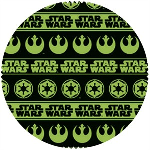 Star Wars Fabric, Star Wars II, Shield Stripe Green