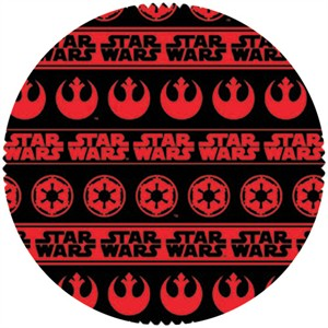 Star Wars Fabric, Star Wars II, Shield Stripe Red