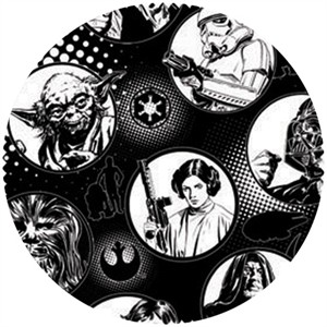 Star Wars Fabric, Star Wars II, Spyglass White