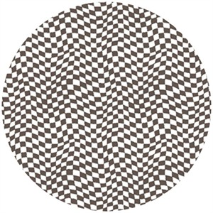 Susan Lawrence for Anthology Fabrics, Crazy Races, Checkerboard Flag Black/White