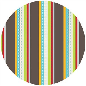 Susan Lawrence for Anthology Fabrics, Crazy Races, Race Stripe Multi
