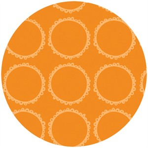 Susan Lawrence for Anthology Fabrics, Crazy Races, Racing Rings Orange