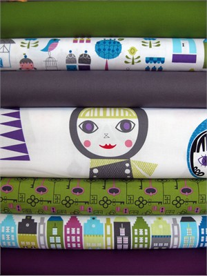 Suzy Ultman, Suzy's Dollhouse, Garden in FAT QUARTERS, 7 Total