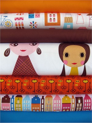 Suzy Ultman, Suzy's Dollhouse, Retro in FAT QUARTERS, 7 Total