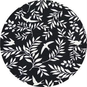 Japanese Import, BARKCLOTH, Swallow Breeze Black