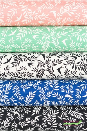 Japanese Import, BARKCLOTH, Swallow Breeze 5 Total