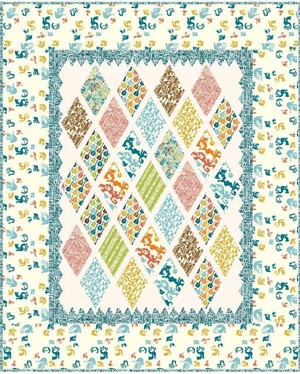 Swinging Diamonds Quilt Kit featuring Ipanema