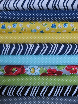 Swirly Girls, Poppy Love in FAT QUARTERS 10 Total