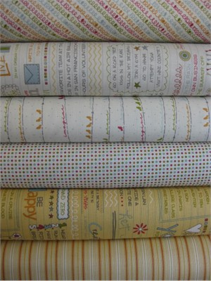 Sweetwater, Noteworthy, Daisy Vanilla in FAT QUARTERS, 6 Total