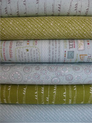 Sweetwater, Noteworthy, Pickle Mist in FAT QUARTERS, 6 Total