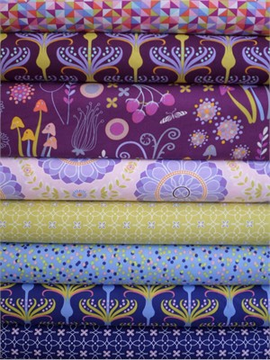 Tamara Kate, Helen's Garden, Lupine in FAT QUARTERS 8 Total