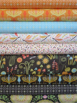 Tamara Kate, Helen's Garden, Poppy in FAT QUARTERS 9 Total