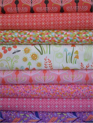 Tamara Kate, Helen's Garden, Zinnia in FAT QUARTERS 8 Total