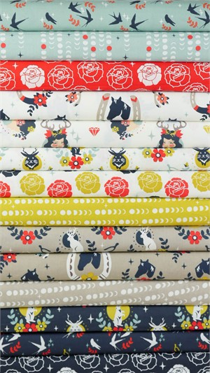Arleen Hillyer for Birch Organic Fabrics, Tall Tales 14 Total