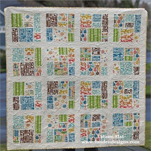Tatami Mat Quilt Kit featuring prints from Ipanema
