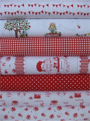 Tasha Noel, Simple Life, Red in FAT QUARTERS 7 Total
