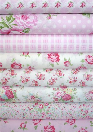 Tanya Whelan, Rosey, Pink in FAT QUARTERS 8 Total