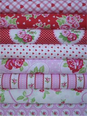 Tanya Whelan, Valentine Rose, True Love in FAT QUARTERS 8 Total