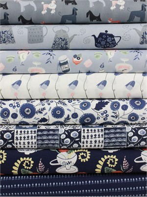 Rae Ritchie for Dear Stella, Tea Party in FAT QUARTERS 8 Total