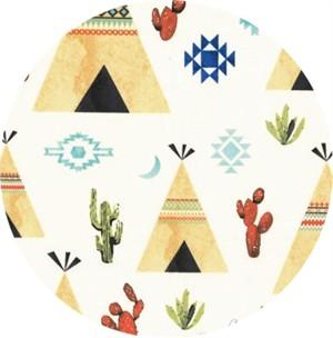 Hailey Hoffman for Hoffman Fabrics, Desert Dawn, Teepees Desert
