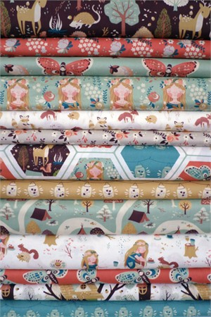 Teagan White for Birch Organic Fabrics, Fort Firefly, Entire Collection 13 in Total
