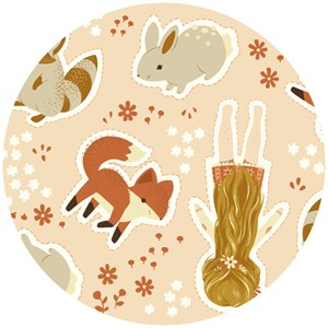 Teagan White for Birch Organic Fabrics, Acorn Trail, CANVAS, Cut and Sew Dolls (24 Inch Panel)