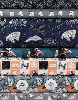 Camelot Fabrics, Star Wars: The Force Awakens, Black 7 Total