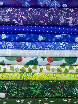 Lizzy House for Andover, The Lovely Hunt, Mermaid in FAT QUARTERS 9 Total (PRE-CUT)