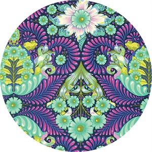 Tula Pink for Free Spirit, Slow & Steady, The Tortoise Blue Raspberry