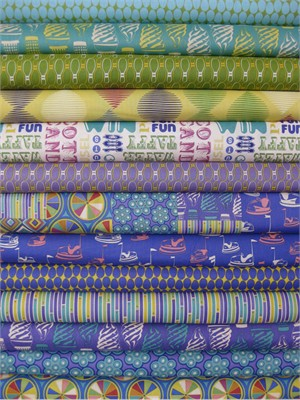 Thomas Knauer, Asbury, Cool in FAT QUARTERS, 13 Total (LAST BUNDLE)