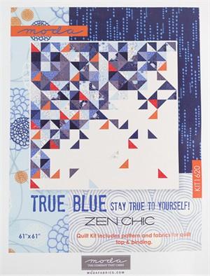 Sewing Pattern, Brigitte Heitland, True Blue Throwing Quilt Kit