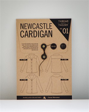 Thread Theory Menswear Sewing Patterns, Newcastle Cardigan