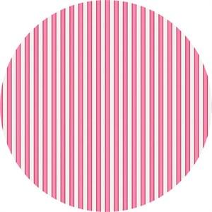 Rosalie Dekker for Ella Blue, Gembrook, LINEN, Ticking Pink