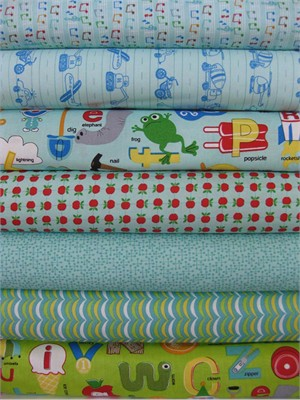 Tim and Beck, Apple Jack, Aqua in FAT QUARTERS 7 Total