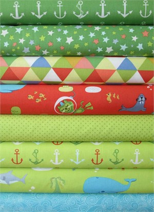 Tim and Beck, Bartholomeow's Reef, Kelp/Briny in FAT QUARTERS 7 Total