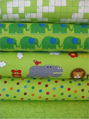 Tim And Beck, Bungle Jungle, Lime in FAT QUARTERS 5 Total