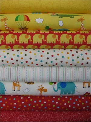 Tim And Beck, Bungle Jungle, Red in FAT QUARTERS 8 Total