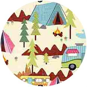Timeless Treasures, Camping Scenic Cream