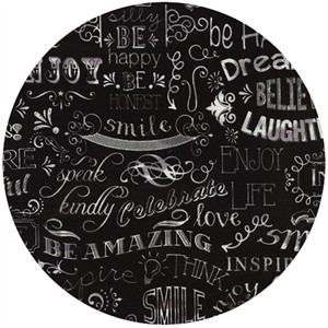 Timeless Treasures, Chalkboard Words Black