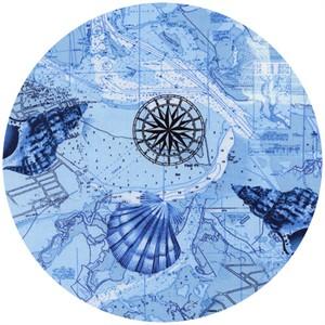Timeless Treasures, Deep Sea, Map Blue