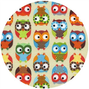 Timeless Treasures, FLANNEL, Set Owls