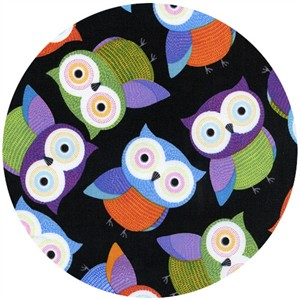 Timeless Treasures, Foxy Owl, Foxy Owls Black