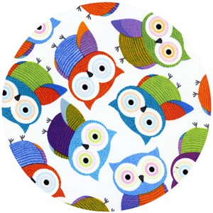 Timeless Treasures, Foxy Owl, Foxy Owls White