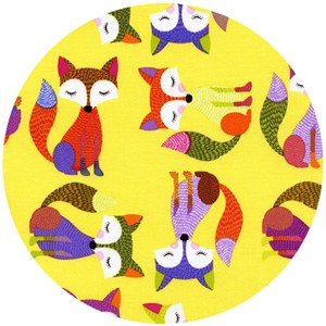 Timeless Treasures, Foxy Owl, Foxes Yellow